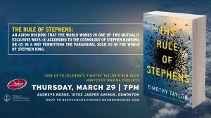 Audrey's Bookstore Edmonton Speaking Event March 29, 2018